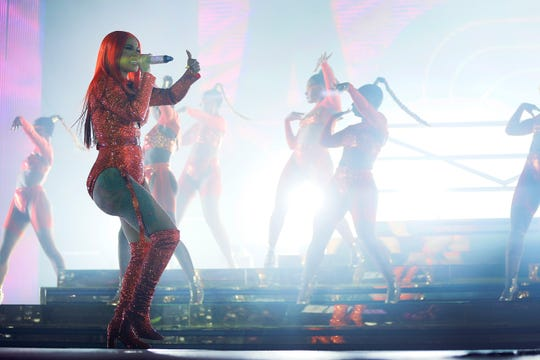 Cardi B performs Tuesday, Oct. 8, 2019, at the El Paso County Coliseum.