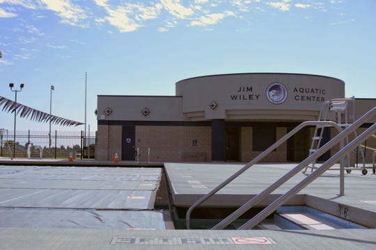 The Jim Wiley Aquatic Center opened earlier this year at Farmersville High School.
