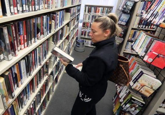 Dana Moson of Stony Point at the Stony Point Rose Memorial Library Oct. 9, 2019.
