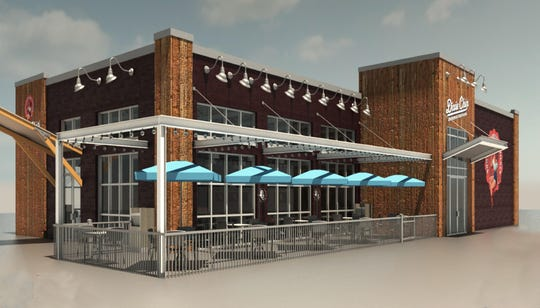 A rendering of the exterior of Dixie's Southern Kissed Chicken. The first location is expected to open off Del. 7 next year.