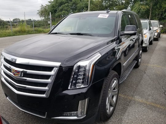 This 2018 Cadillac Escalade is one of 16 stolen vehicles, worth about $500,000, that U.S. Customs and Border Protection officers seized at the Port of Wilmington this fiscal year.