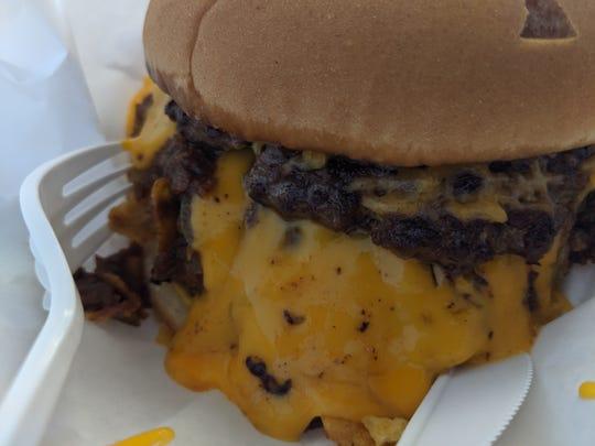 Beanie burger at the Glass Kitchen.