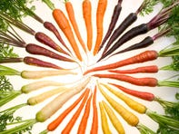 ARS researchers have selectively bred carrots with pigments that reflect almost all colors of the rainbow. More importantly, though, they're very good for your health.