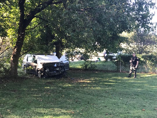 The driver of the Odyssey crashed about 30 yards east of the State Street Bridge in Zanesville. Law enforcement began pursuing the vehicle in Licking County Wednesday afternoon.