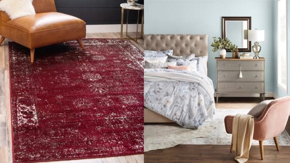 A faded rug will look like you've had it for years.