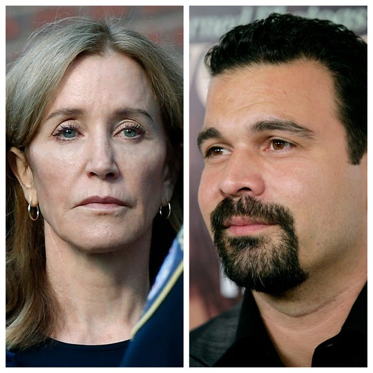 """Desperate Housewives"" alums Felicity Huffman (left) and Ricardo Chavira (right)."