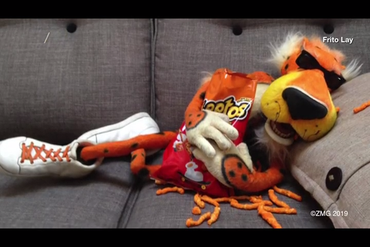 Polly has a confession to make. She likes Cheetos.