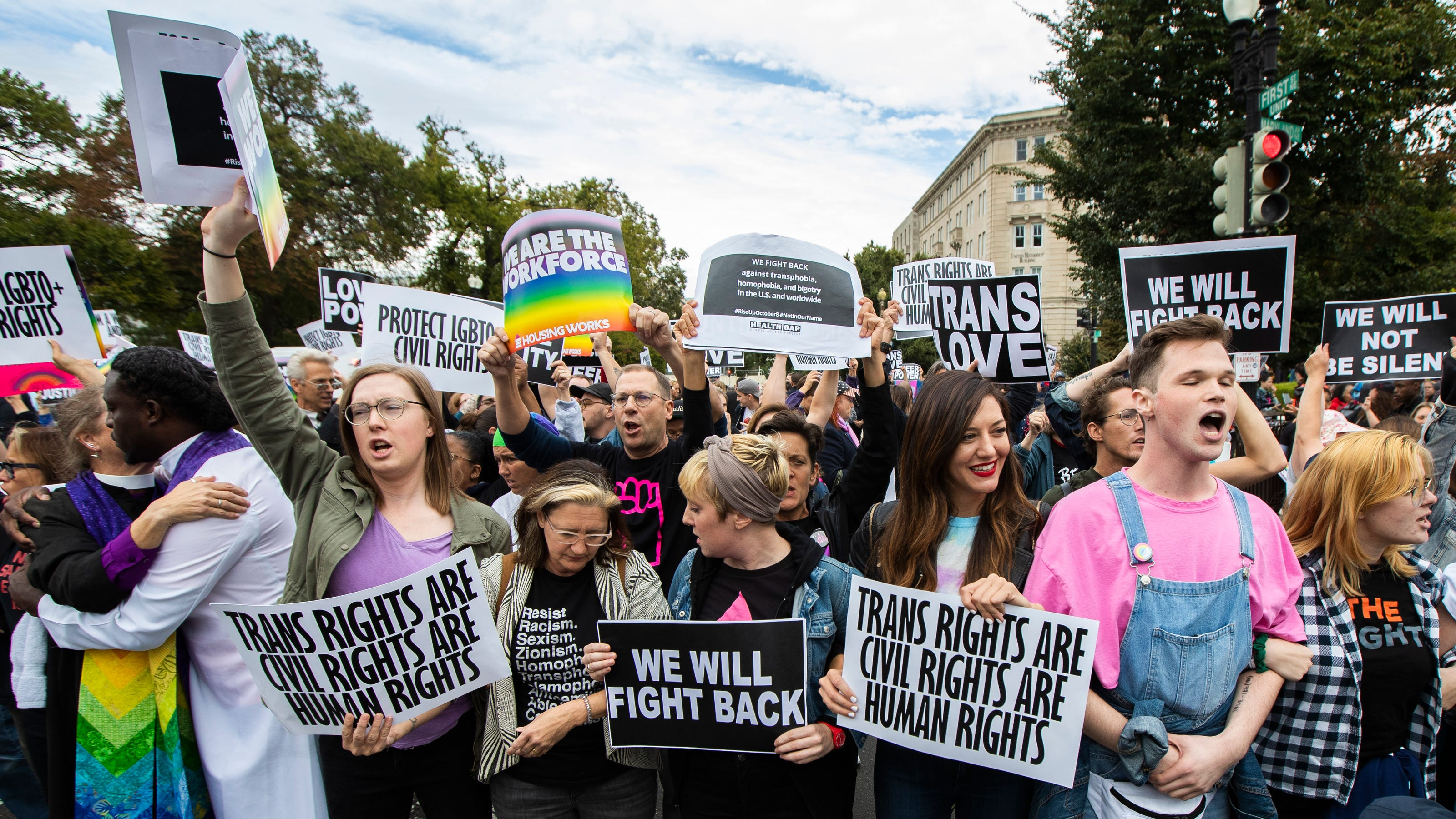 LGBT protests against Donald Trump