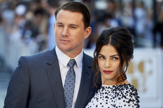 Channing Tatum and Jenna Dewan in London in 2015.