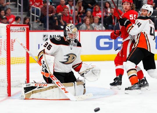 Anaheim Ducks goaltender John Gibson has allowed only three goals in his first three games.