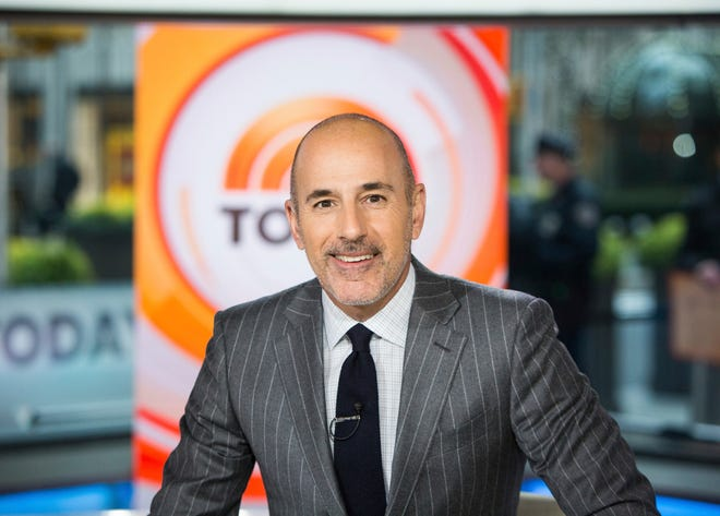 Matt Lauer in November 2017 on the set of the 'Today' show in New York.