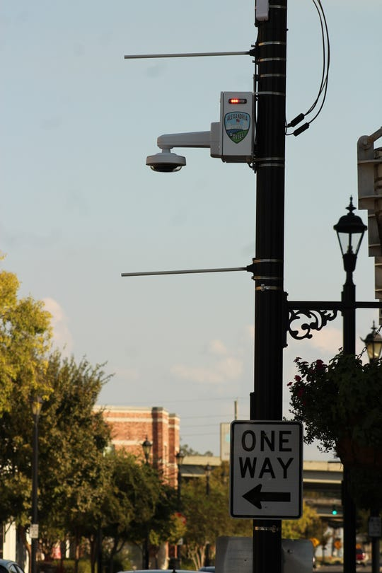 A new security camera unit at the corner of 3rd and Johnston streets in downtown Alexandria is one of 15 planned for the area.