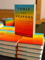 "Microsoft President and Appleton native Brad Smith's new book, ""Tools and Weapons."""
