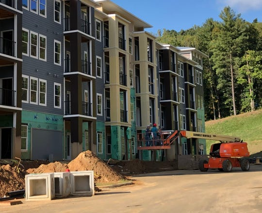 The 272-unit Hawthorne at Mills Gap apartments should be completed by spring of 2020. The complex is located at the corner of Mills Gap and Sweeten Creek roads.