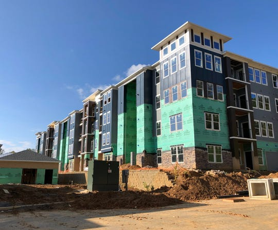 The 272-unit Hawthorne at Mills Gap apartments should be finished in spring 2020, developer Rusty Pulliam said.