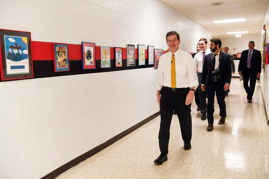 Gov. Roy Cooper visited North Buncombe Elementary October 10, 2019.