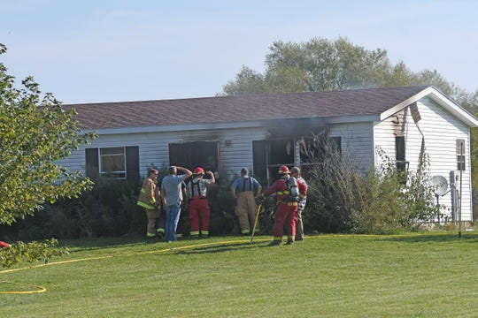 A fire at 6529 Connelly Road in Chatfield Township destroyed a residence Thursday morning.