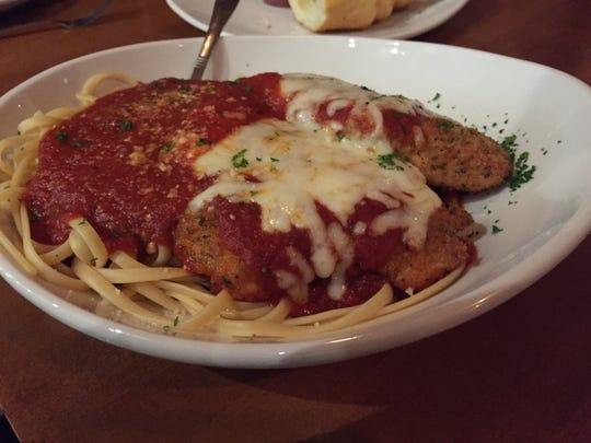 A dish of chicken parmigiana at Mimmo's Pizzeria & Restaurant in South Burlington.