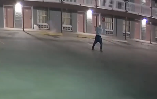 Corpus Christi police released surveillance footage of a man shooting at a Leopard Street motel on Sept. 27.