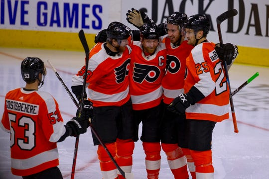 Kevin Hayes and Ivan Provorov scored power-play goals and the Flyers went 5-for-5 on the penalty kill in a 4-0 win over New Jersey.