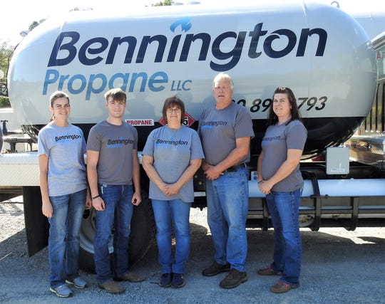 Bennington Propane is a family-owned operation in Bakersville. Family members include Bethany Green, Conner Miceli, Kim and Jeff Bennington and Brooke Miceli. The business started in July and was formed to honor Jeff and Kim's late son, Brock.