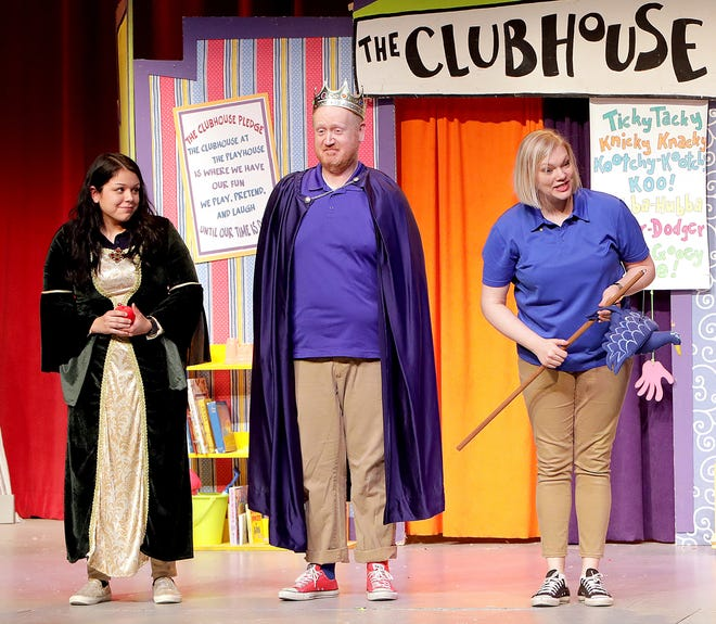 Scene from a past princess story at Des Moines Community Playhouse Friday Funday.