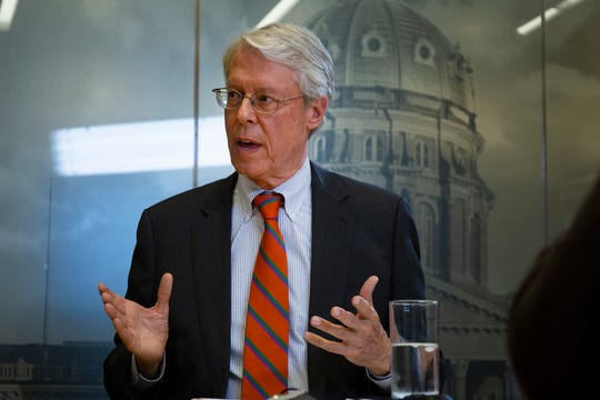 Des Moines Mayor Frank Cownie on Monday, March 23, 2020 urged Iowa to adopt a state-wide stay-at-home order to protect against coronavirus.