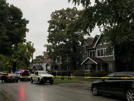 Police investigate a homicide on Des Moines' north side on Thursday, Oct. 10, 2019.