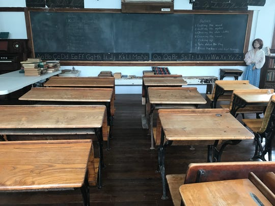 The Mt. Hope School House, which closed in 1959, has been filled with donated desks similar to those that would have filled the space 60 years ago.