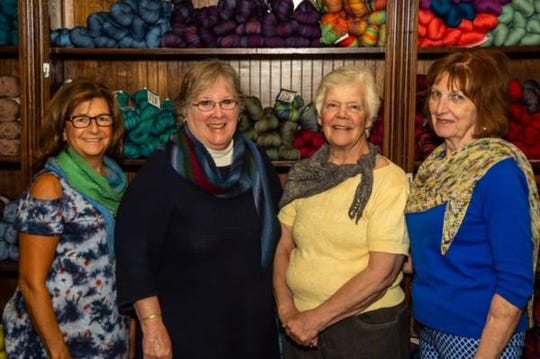 Owners of Back Alley Fibers in Caro are, from left, Joanne Rasmussen of Pigeon; Marty Gibbs, Caro; Mary Geer, Kingston; and Sherry Richards, Caro.