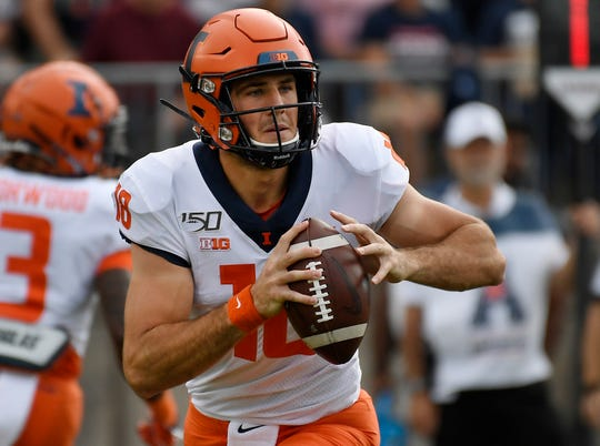 Illinois quarterback Brandon Peters, a former Wolverine, is questionable to play on Saturday.