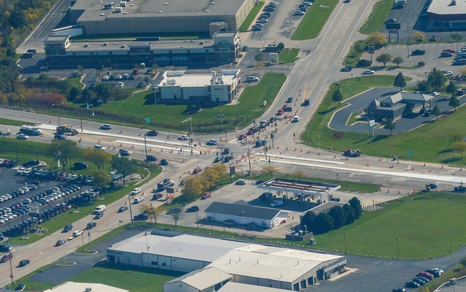 The intersection of Johnson Street (Hwy 23) and Rolling Meadows Drive will be closed Friday, Oct. 11, beginning at 8 p.m. and remain closed overnight until 6 a.m. The closure will be in place to allow a contractor to mill and pave the entire intersection. Doug Raflik/USA TODAY NETWORK-Wisconsin