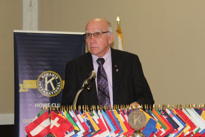 Retired Judge Michael Burkett moderated the Fremont Kiwanis Candidates Forum Thursday at the Elks Lodge. Mayoral and Fremont City Council candidates, as well as a representative from the Sandusky County Health Department, spoke to voters about the upcoming Nov. 5 general election.