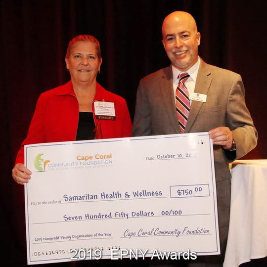 The annual Excellence in Nonprofit Performance Annual Awards honored 11 people Thursday.  Dr. Susan Hook of the Samaritan Health & Wellness received a $750 grant for winning the Nonprofit Rising Organization of the Year.