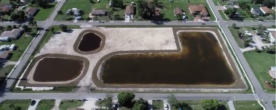 A News-Press drone captured the former South Street landfill last summer after the City of Fort Myers removed some 30,000 tons of toxic sludge from the neighborhood of residential homes.  The 3.7 acre site will next play host to a stormwater detention feature combined with trails and other amenities.