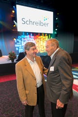 Schreiber International President Francois Salamon, left, and former CEO and chairman of the board Bob Bush at a Schreiber event in 2016.
