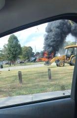 Henderson fire responds to a blaze at Kimmel Park.