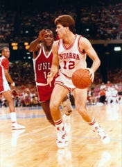 March 28, 1987: Steve Alford and the Hoosiers defeated UNLV in the semifinal of the NCAA tournament, 97-93.