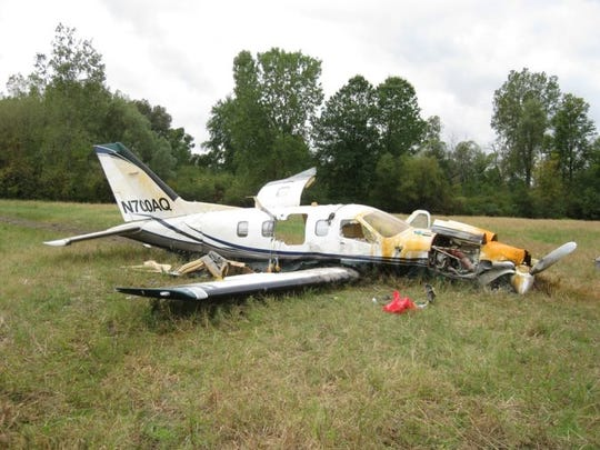 This single-engine plane crashed near Lansing on Oct. 3, killing five men and leaving another in critical condition.