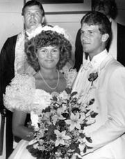 July 11, 1987: The Rev. Robert Curtis, Bloomington, performed the wedding ceremony of Steve Alford to Tanya Frost.