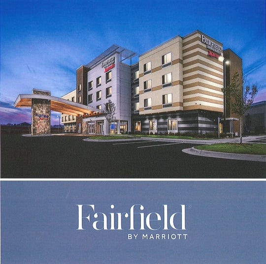 A rendering of the Fairfield Inn & Suites that will break ground across Alcoa Highway from McGhee Tyson Airport. Developers anticipate it will be complete in August 2020.