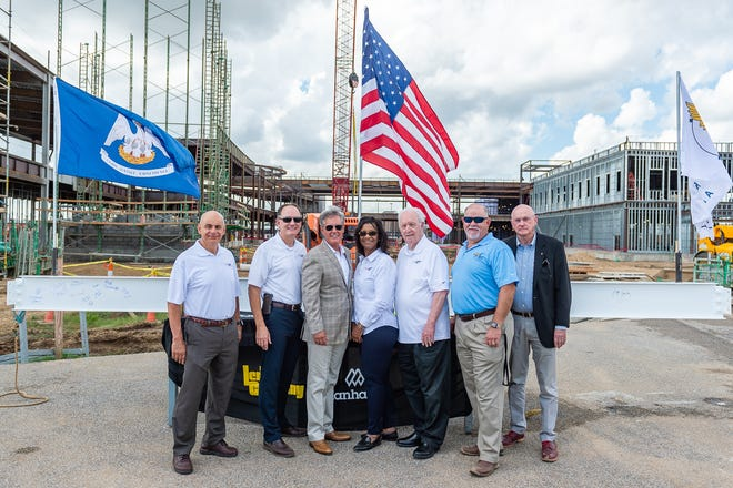 Lafayette Regional Airport  Commissioners and officials hold ceremony to mark the end of steel infrastructure for the new terminal Thursday, Oct. 10, 2019.