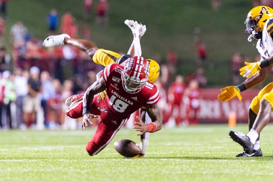 UL wide receiver Jalen Williams, shown here in the Ragin' Cajuns game against the Appalachian State Mountaineers in October, is among the returning talents the Cajuns have on their offense for next season.