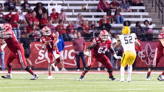 UL quarterback Levi Lewis throws the ball during a 17-7 loss earlier this season to Appalachian State, which hosts Saturday's Sun Belt championship game against the Ragin' Cajuns.