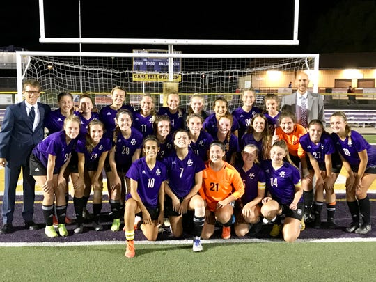 The Bloom-Carroll girls' soccer team defeated visiting Fairfield Union, 2-0, Wednesday night to finish 8-0 and win the Mid-State League-Buckeye Division championship.