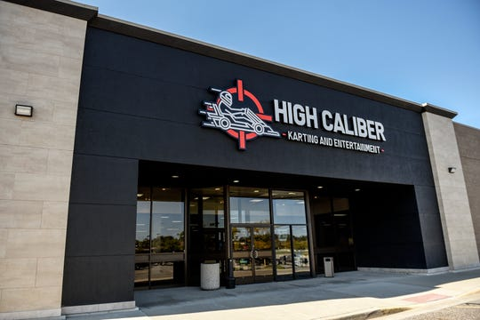 High Caliber Karting and Entertainment's entrance photographed on Wednesday, Oct. 9, 2019, at the Meridian Mall in Okemos.