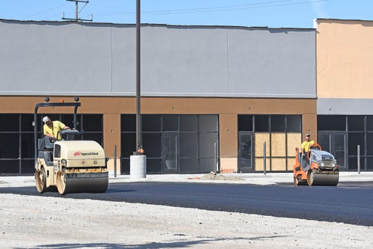 Panda Express and Five Guys are confirmed as two of six tenants of the new plaza that replaced the old Ocean Buffet on Lexington-Springmill Road.