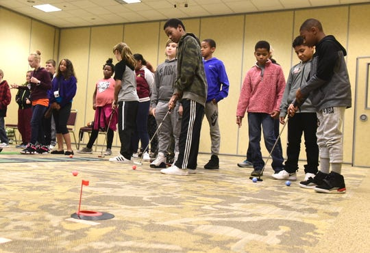 Students from Malabar Intermediate School learned about all of the job opportunities available at golf courses Thursday at the Mid-Ohio Educational Service Center.