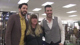 Jonathan and Drew Scott showed off their new home lifestyle collection, Scott Living, at Kohl's in Menomonee Falls on Oct. 10.