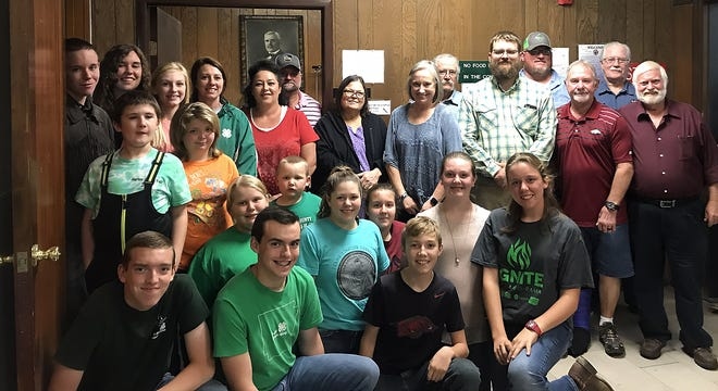 Marion County 4-H members joined the Marion County Quorum Court for their Oct. 8meeting asOctober is 4-H appreciation month. Caleb Rozeboom,4-H County Council president, gave a presentation on 4-H activities from the past year. Marion County 4-H would like to thank Judge Massey and the Marion County Quorum Court for their continued support of itsprograms.Anyone interested in 4-H can contact the Marion County Extension Office at (870) 449-6349 or visit themonline at www.uaex.edu/marion.